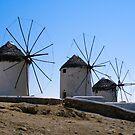 The Windmills of Mykonos by Michael D'Andrea Diaz