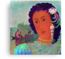 'Lady Missouri', Great, Great, Grandma, full blood Cherokee American Indian, A Cherokee Fantasy Canvas Print
