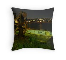 Old-Time Machines & Twilight Scenes Throw Pillow