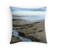 Rock Channel Reflections Throw Pillow