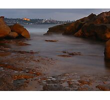 Manly Island Over Water Photographic Print