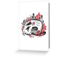 Skull Garden Greeting Card