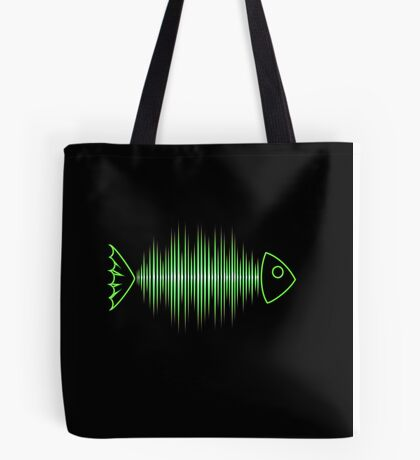 Music Fish Pulse Rate Frequency Dance House Techno Wave Tote Bag