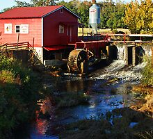 Little Red Grist Mill by Linda Yates