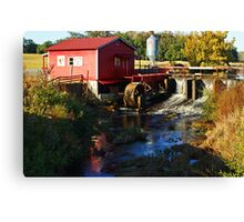Little Red Grist Mill Canvas Print