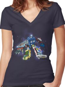 """Defender of The Nerd-verse""  Women's Fitted V-Neck T-Shirt"
