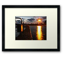 Sundown at Narrabeen Rock Baths Framed Print