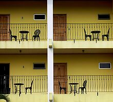 Balconies...La Fortuna, Costa Rica by graeme edwards