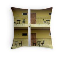 Balconies...La Fortuna, Costa Rica Throw Pillow