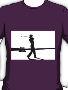 Golfer in Black and White T-Shirt