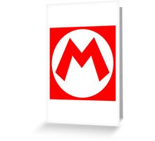 Super Mario Mario Icon Greeting Card