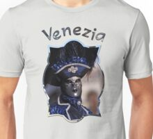 Venetian Carnival Character Wearing A Blue Costume Unisex T-Shirt