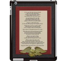 Live your life, Chief Tecumseh iPad Case/Skin