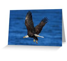 Over the Blue Greeting Card