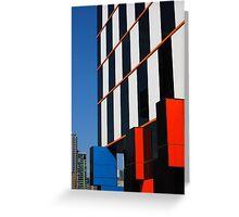 Building blocks at Docklands Greeting Card
