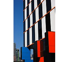 Building blocks at Docklands Photographic Print
