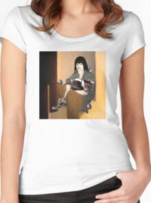 Snow White today. Women's Fitted Scoop T-Shirt