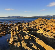 Golden Rocks, Mallacoota by bevanimage