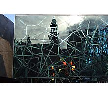 Forum Theatre refection on Federation Square. Photographic Print