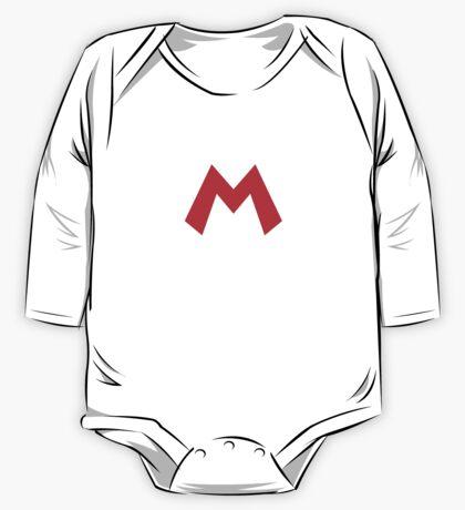 Super Mario Mario Icon One Piece - Long Sleeve