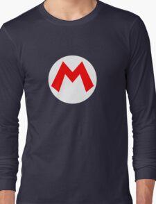 Super Mario Mario Icon Long Sleeve T-Shirt
