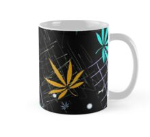 Colorful Marijuana Leaves and Grid Mug