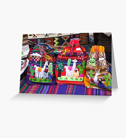 coloured bags Greeting Card