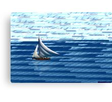 A delightful sail on the waves of the Internet Canvas Print