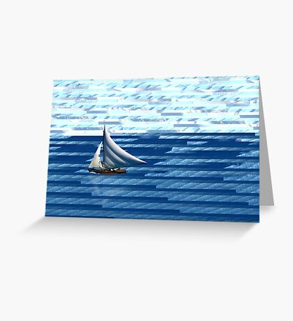 A delightful sail on the waves of the Internet Greeting Card