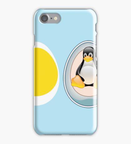 LINUX TUX  PENGUIN  3 EGGS iPhone Case/Skin
