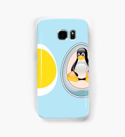 LINUX TUX  PENGUIN  3 EGGS Samsung Galaxy Case/Skin