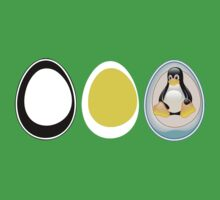 LINUX TUX  PENGUIN  3 EGGS Kids Clothes