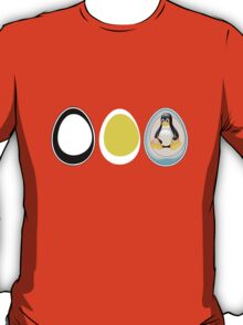 LINUX TUX  PENGUIN  3 EGGS T-Shirt