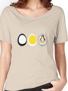 LINUX TUX  PENGUIN  3 EGGS Women's Relaxed Fit T-Shirt