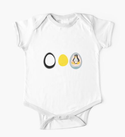 LINUX TUX  PENGUIN  3 EGGS One Piece - Short Sleeve