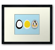 LINUX TUX  PENGUIN  3 EGGS Framed Print