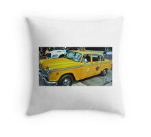 New York Taxi Cab  Throw Pillow