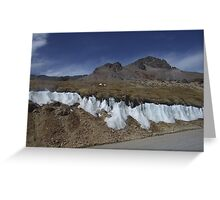 Ice between the rock Greeting Card