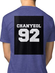 Chanyeol EXO 92 Football Design EXO-K Tri-blend T-Shirt