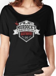 Murdock's Blind Fury Fight Club - Dist Red/White V03 Women's Relaxed Fit T-Shirt