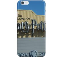 The Making of Harry Potter sign iPhone Case/Skin