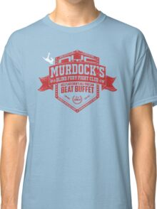 Murdock's Blind Fury Fight Club - Dist Red/White Classic T-Shirt