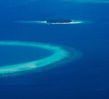 Drone view over North Ari Atolls in the Maldives - Eden on Earth by Atanas Bozhikov