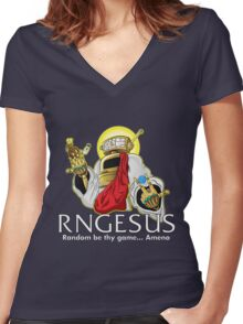 RNGesus  Women's Fitted V-Neck T-Shirt