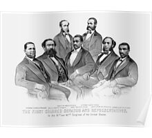 First Colored Senator And Representatives Poster