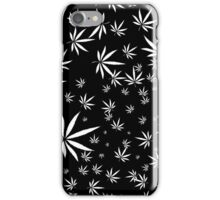 White Marijuana Leaves iPhone Case/Skin