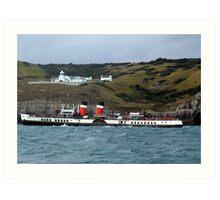 "Steam ship ""Waverley"" Art Print"