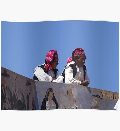 Peruvian Men Poster