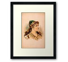 Portrait of a Blond Woman Framed Print