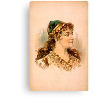 Portrait of a Blond Woman Canvas Print